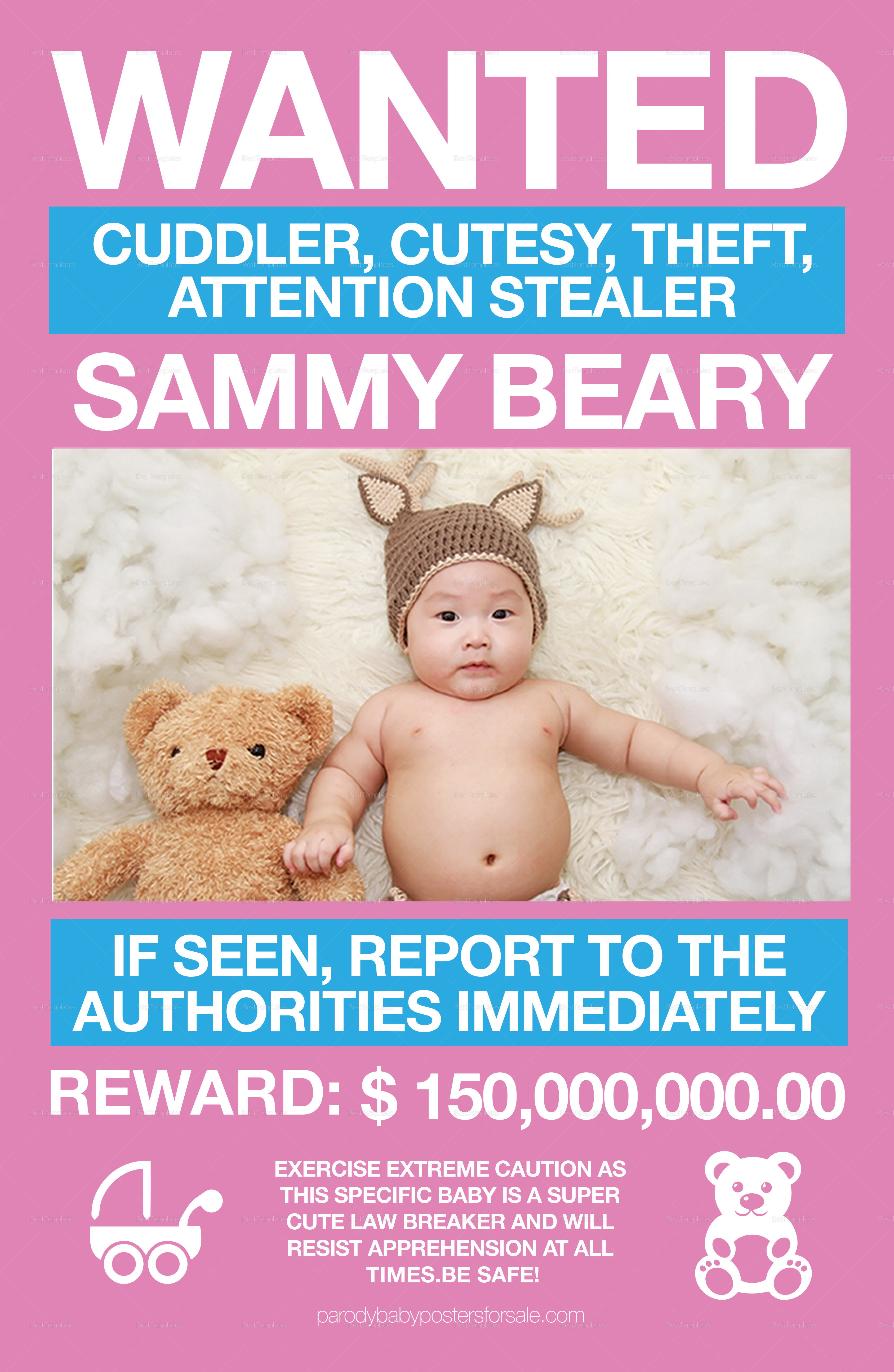 Funny Kids Wanted Poster