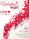 Valentines Night Party Flyer Design Template