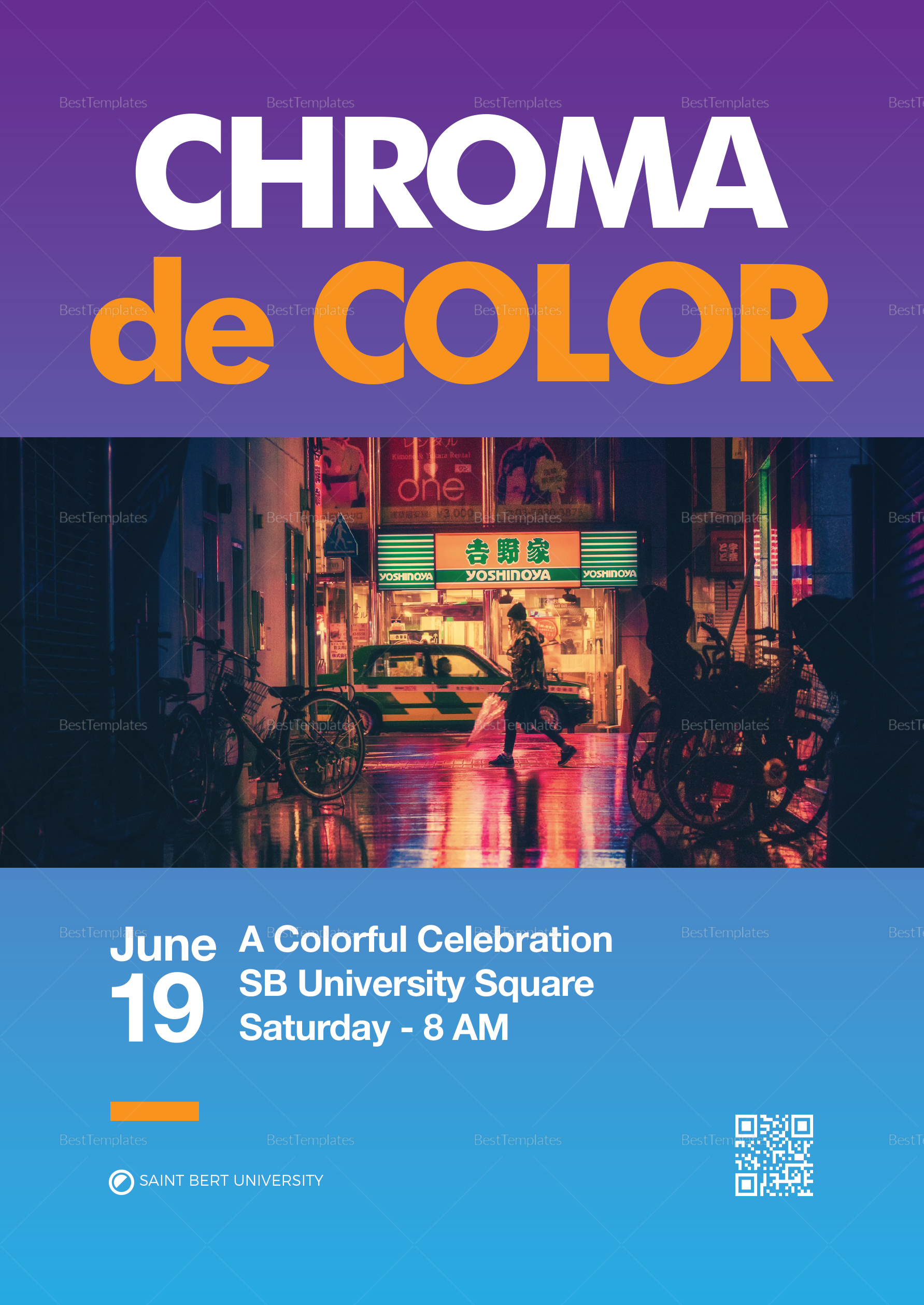 A5 Colorful Celebration Poster Template