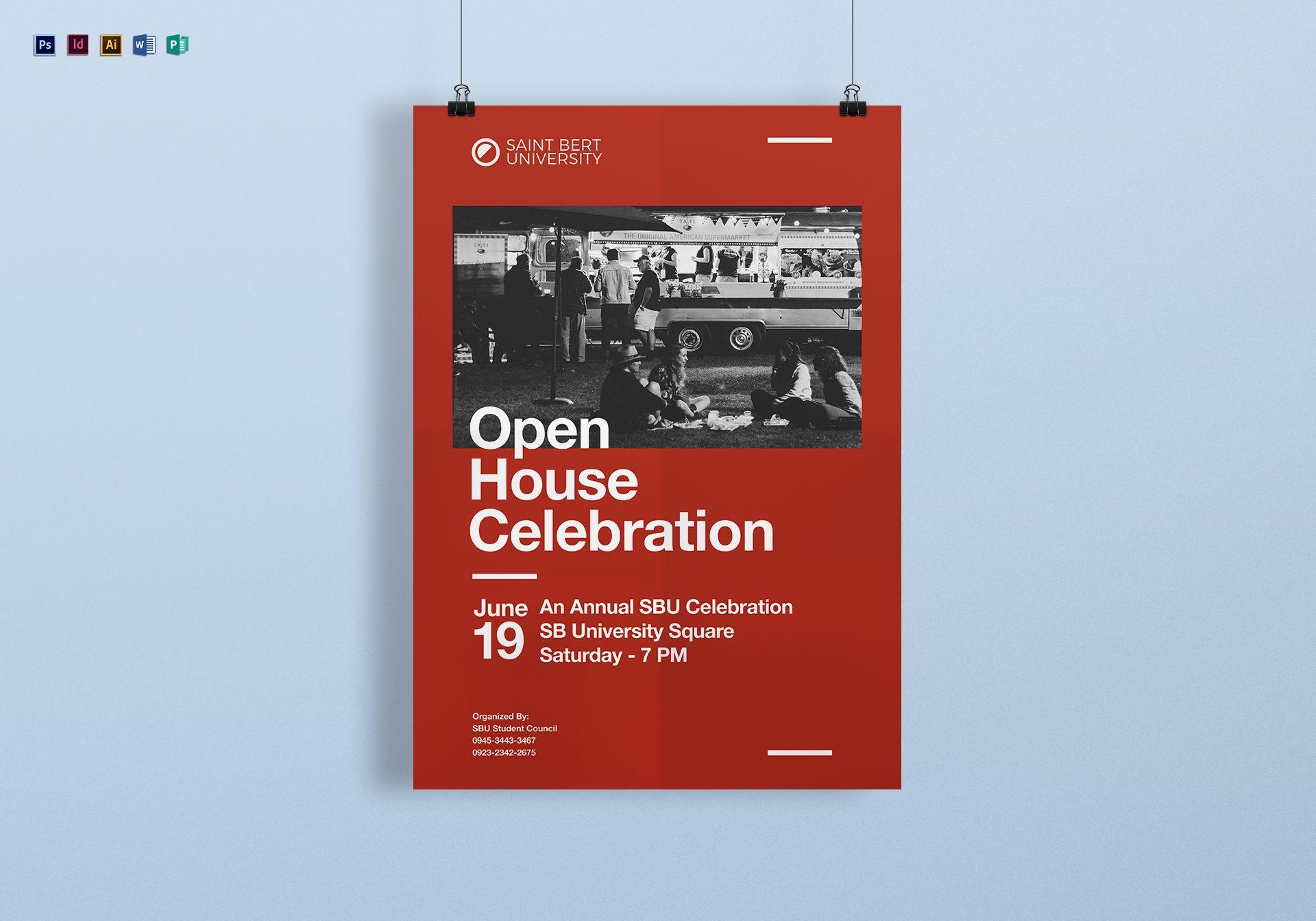 Academic Celebration Poster Template