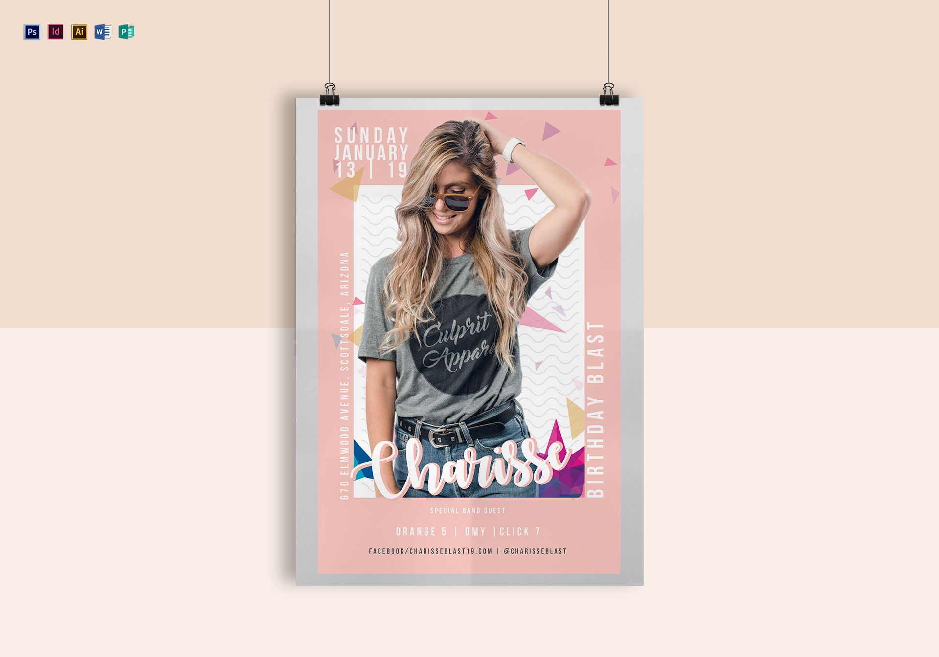 Pink Birthday Poster