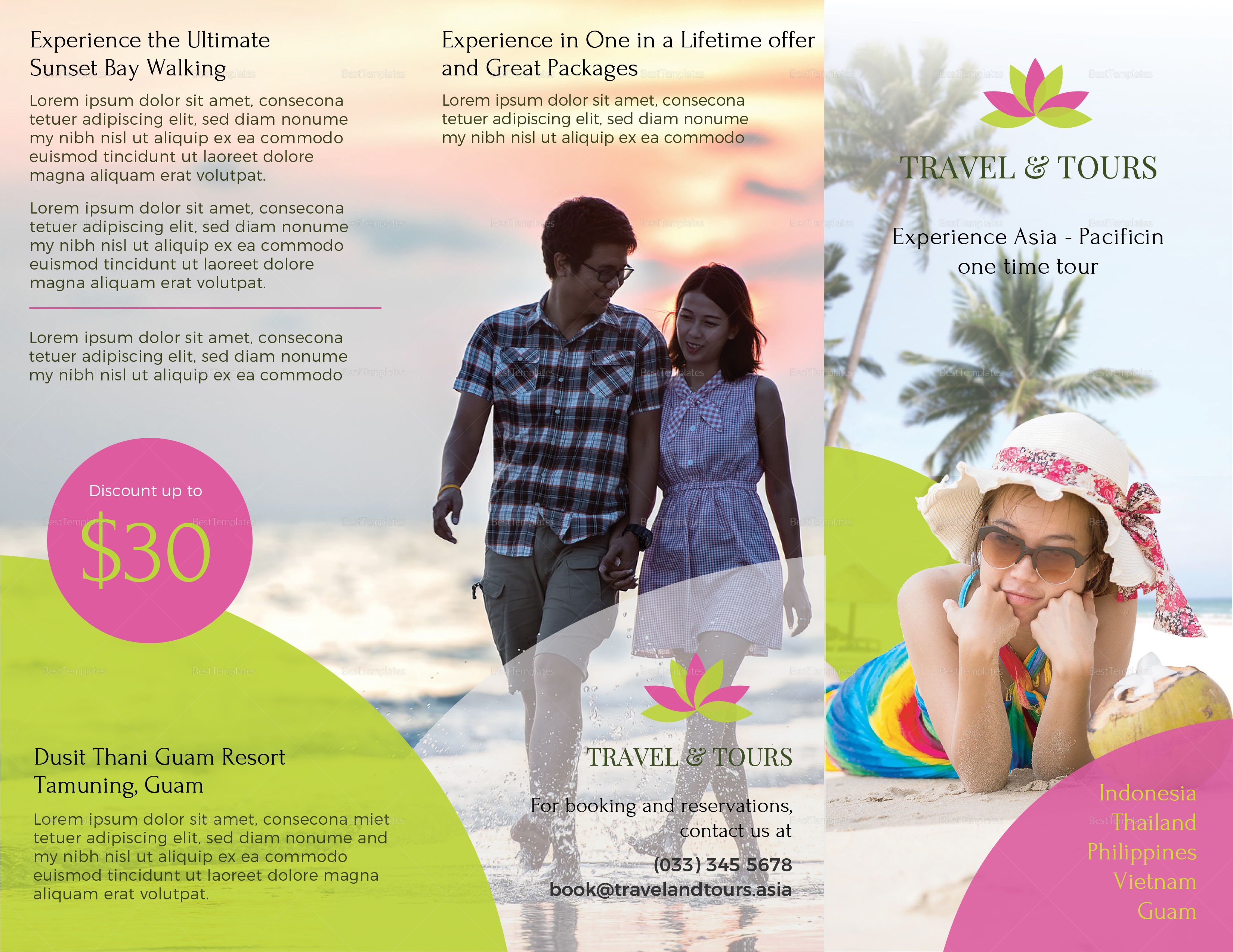 Editable Travel and Tour Brochure