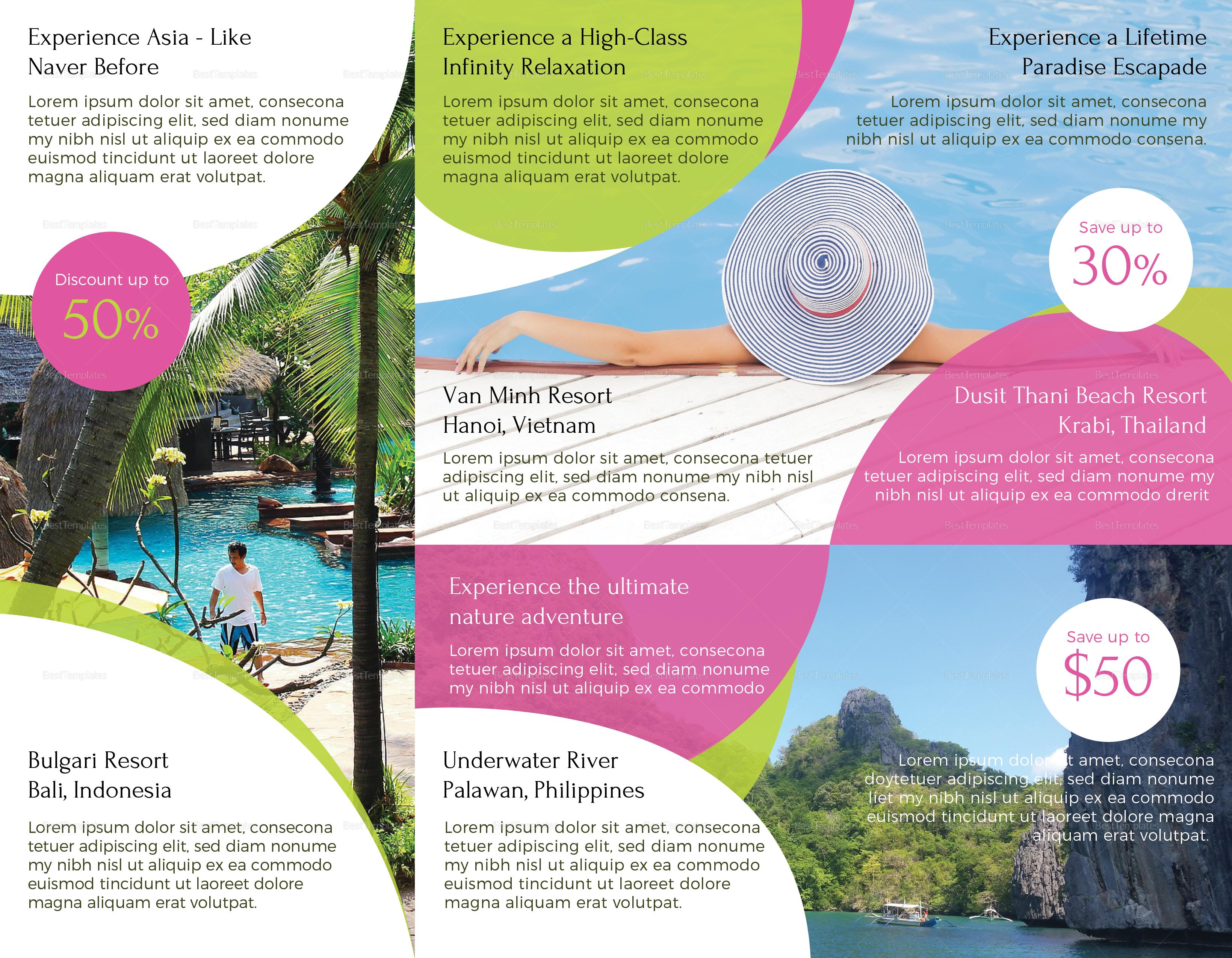 Printable Travel and Tour Brochure