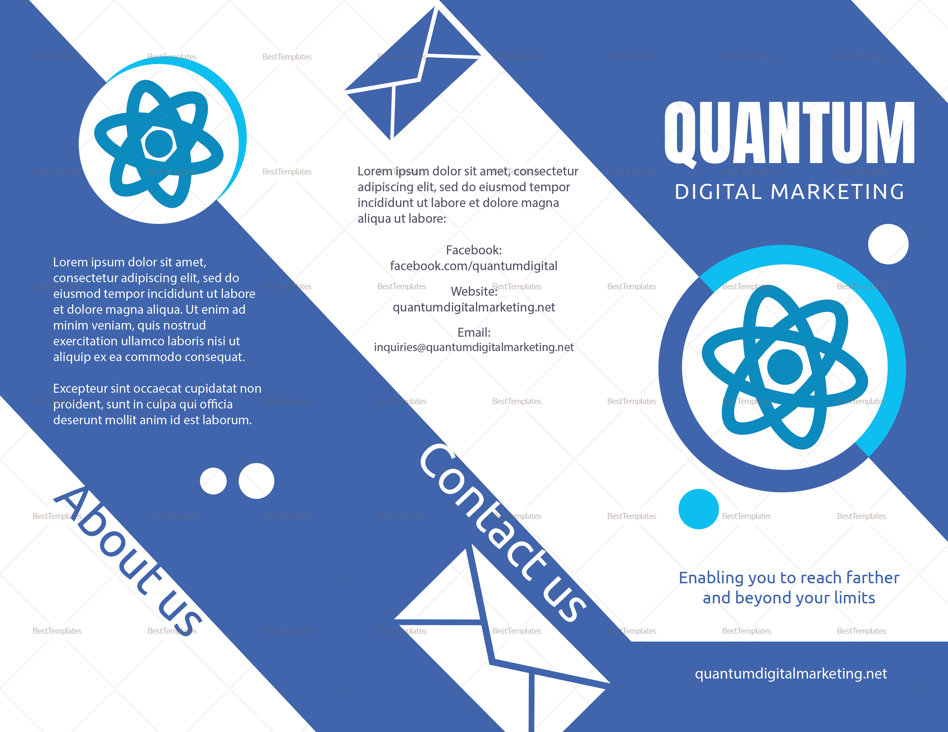 Sample Flat Design Digital Marketing Brochure