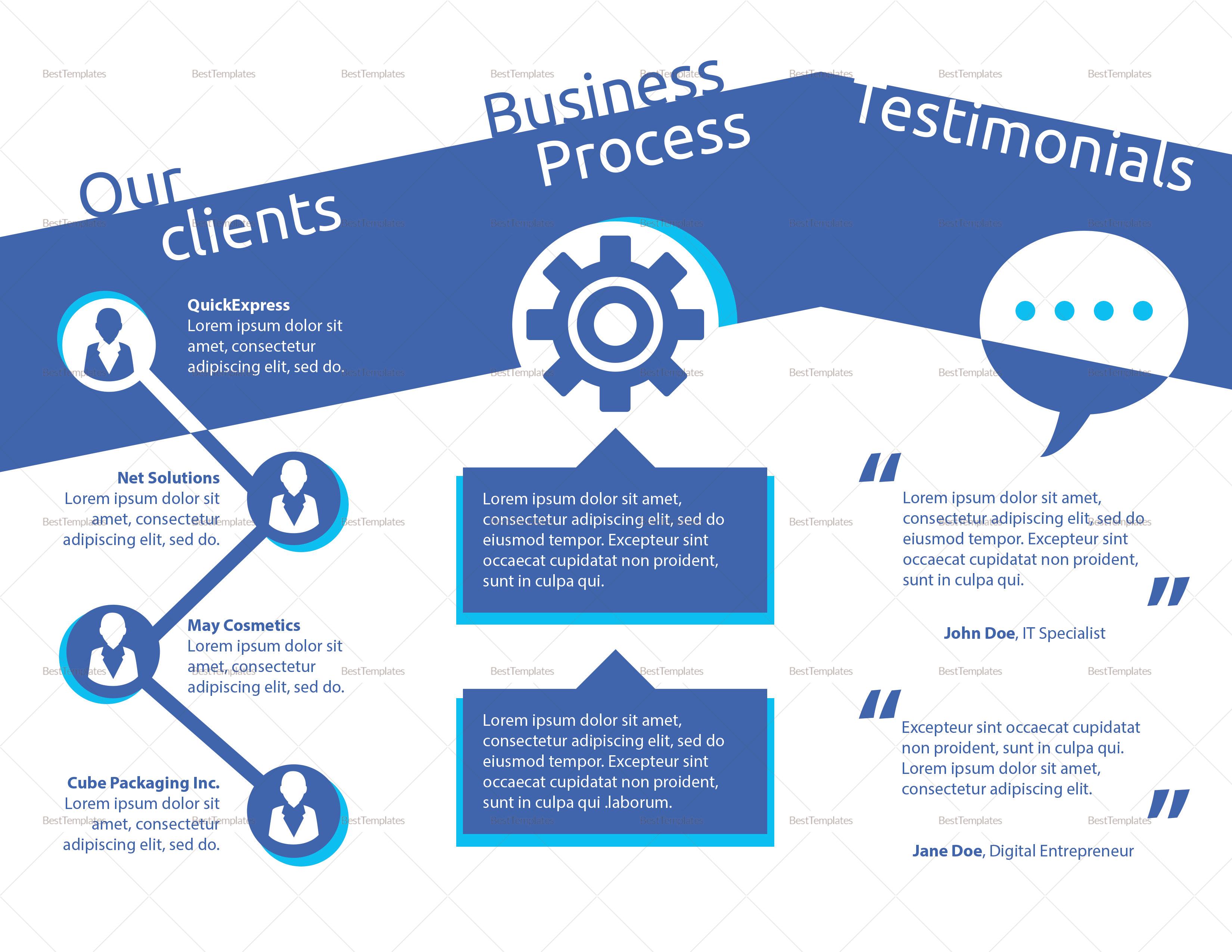 Simple Flat Design Digital Marketing Brochure