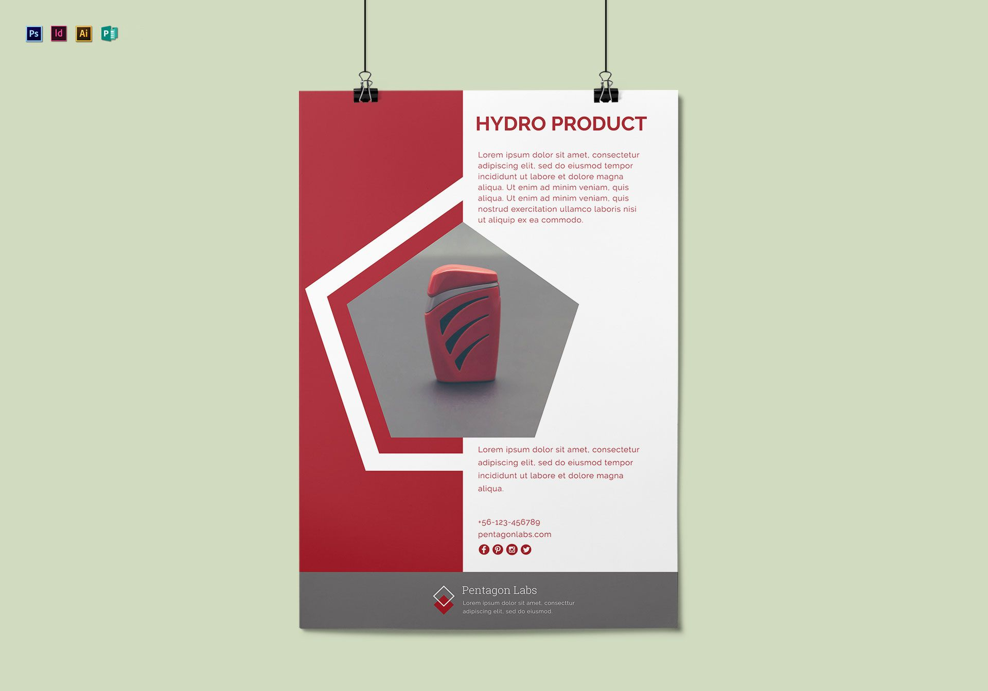 Product Advertisement Poster Design Template in PSD ...