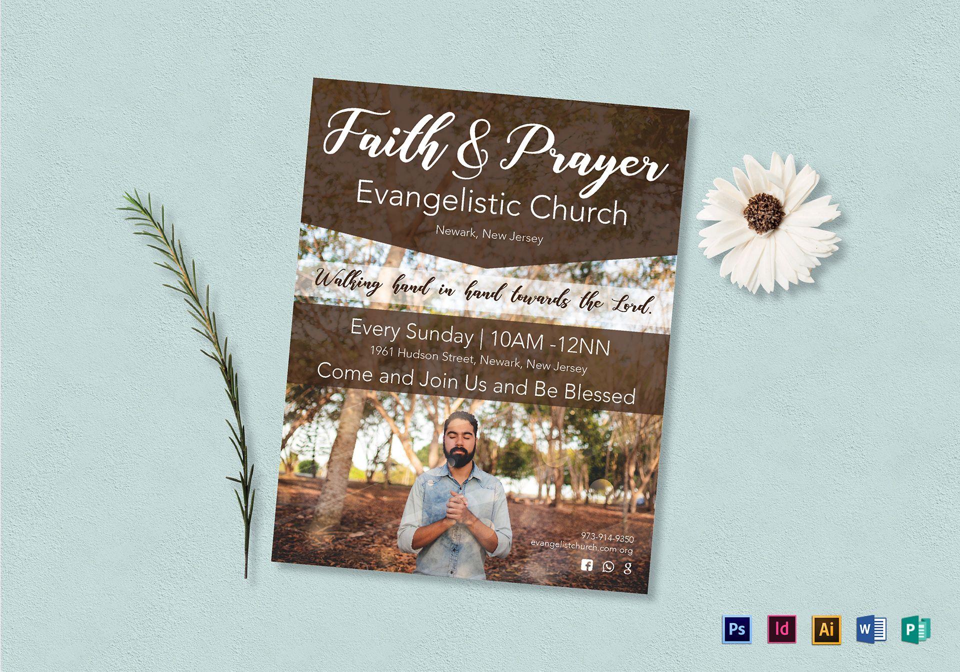 Faith and Prayer Flyer