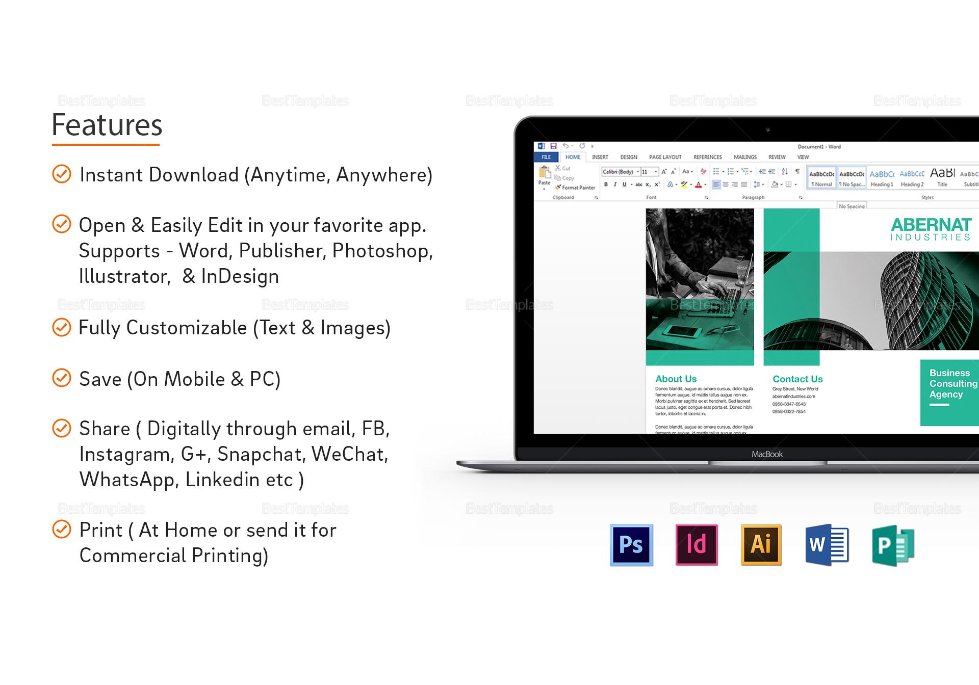 Multipurpose Tri-fold Brochure Design