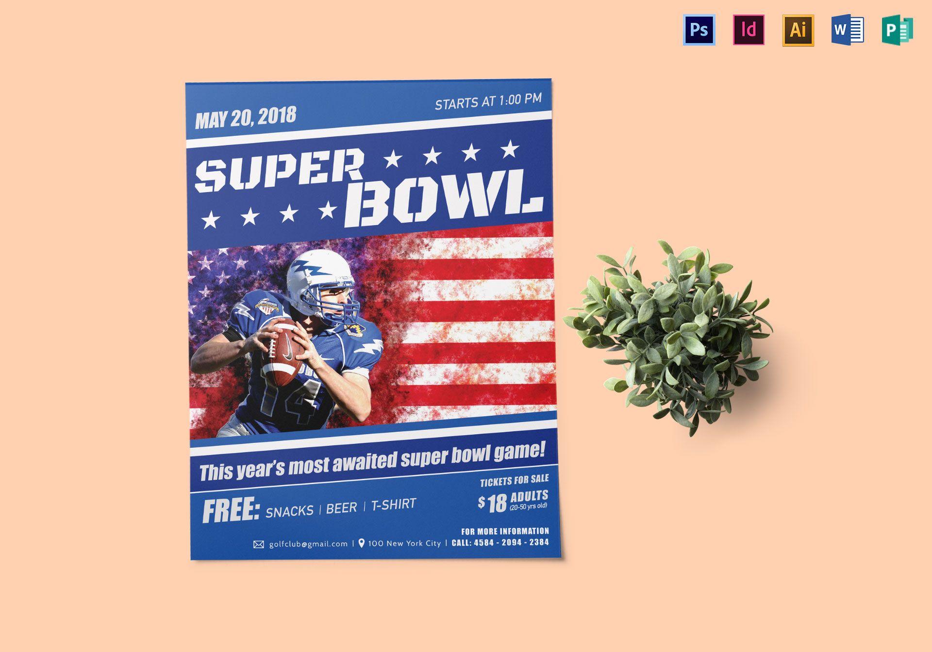 Super Bowl Game Flyer