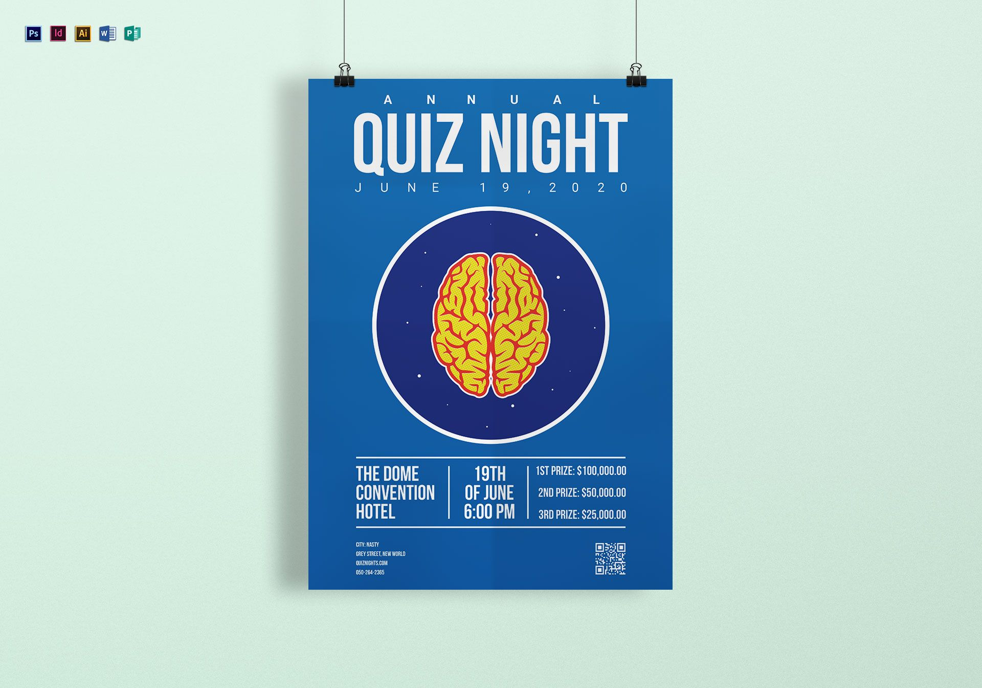 Quiz Night Poster Design Template In Psd Word Publisher
