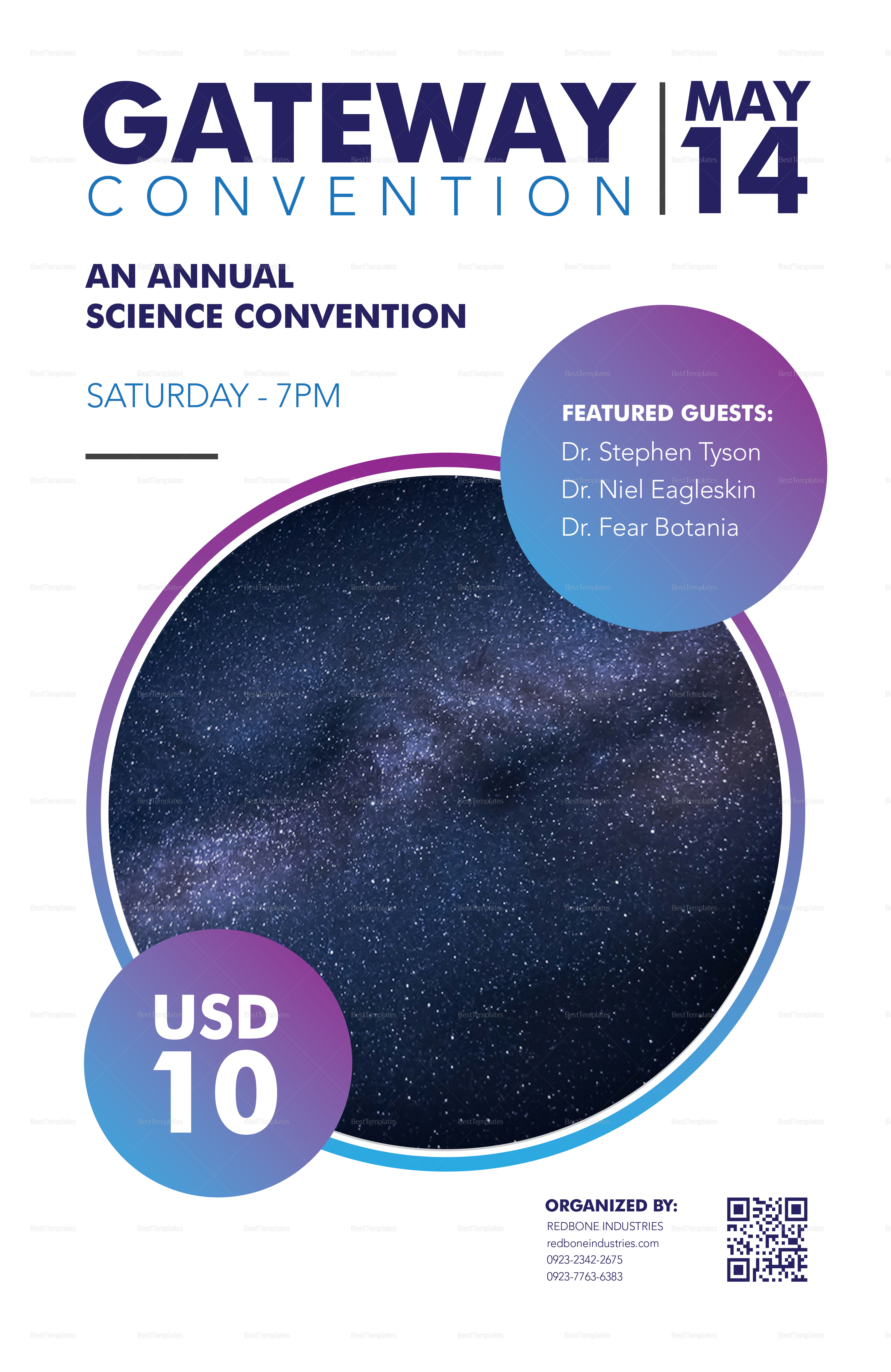 Science Convention Poster Template