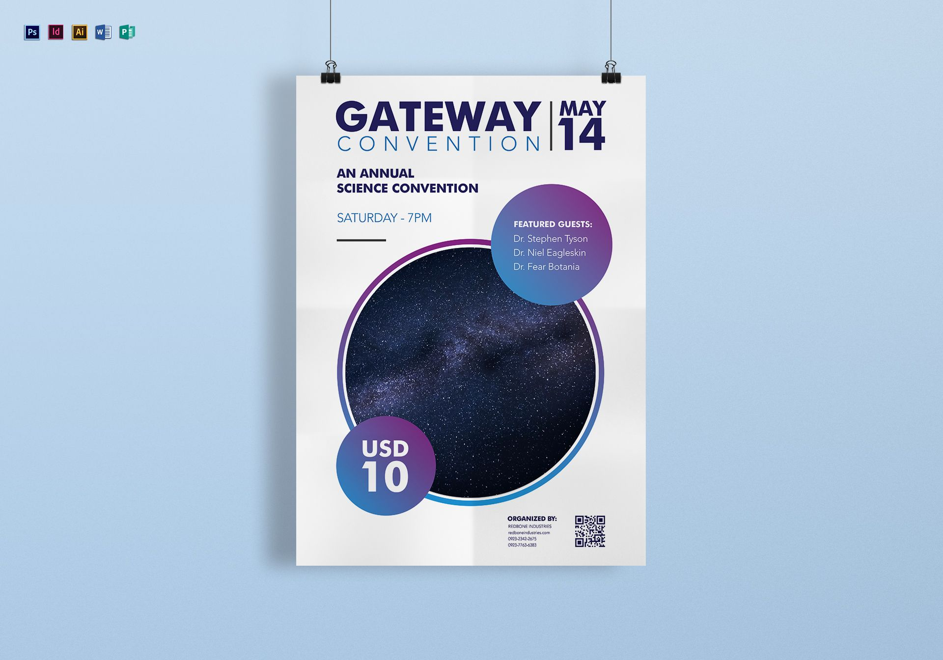 Annual Science Convention Poster Template