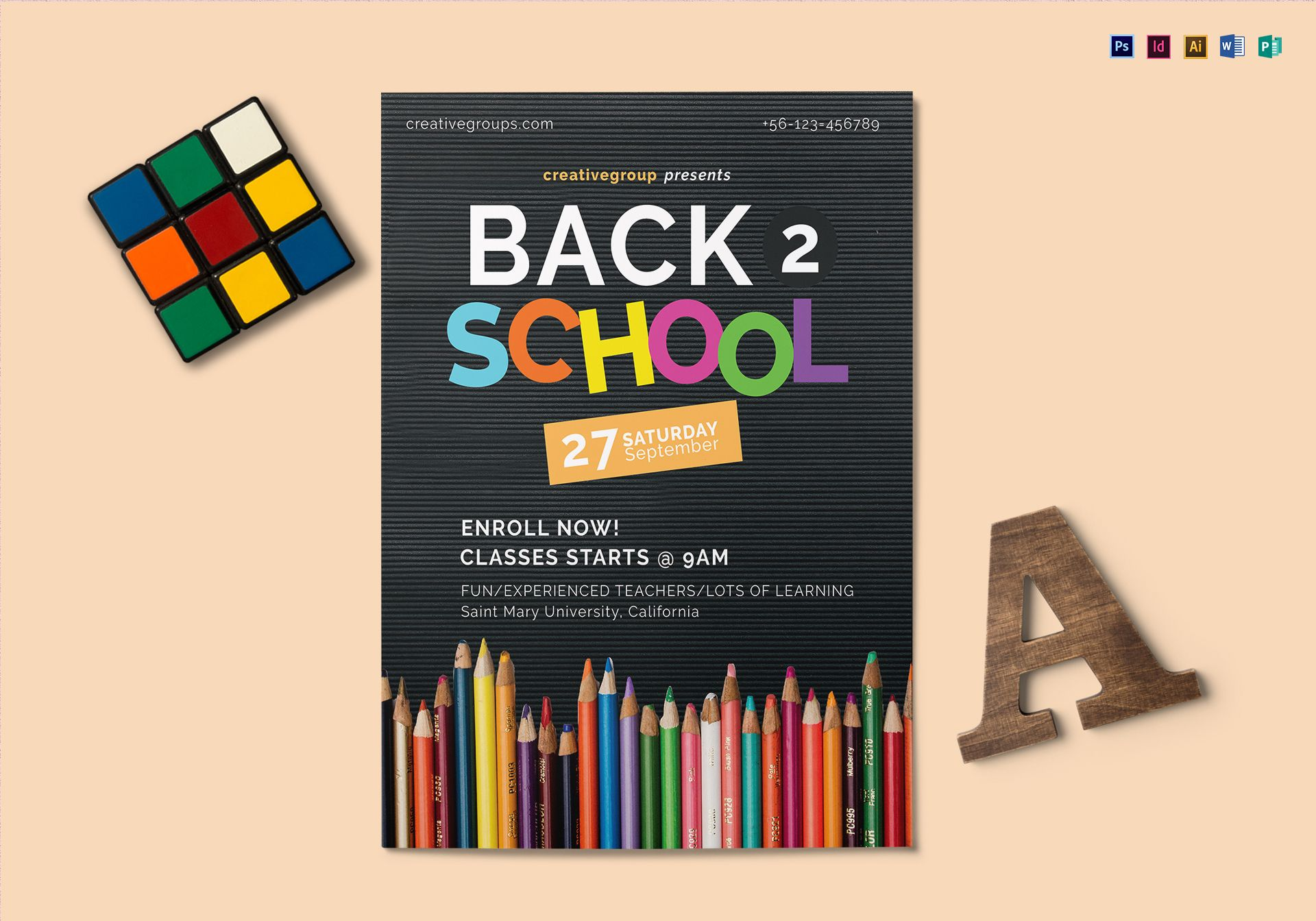Back To School Flyer Design Template In Psd Word Publisher