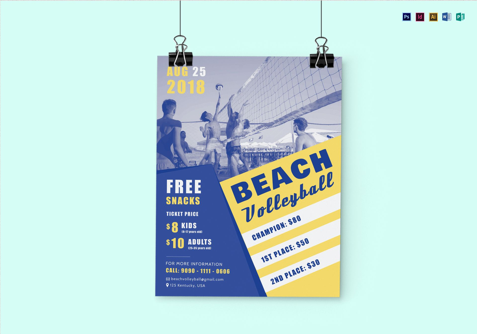 Beach Volleyball Flyer