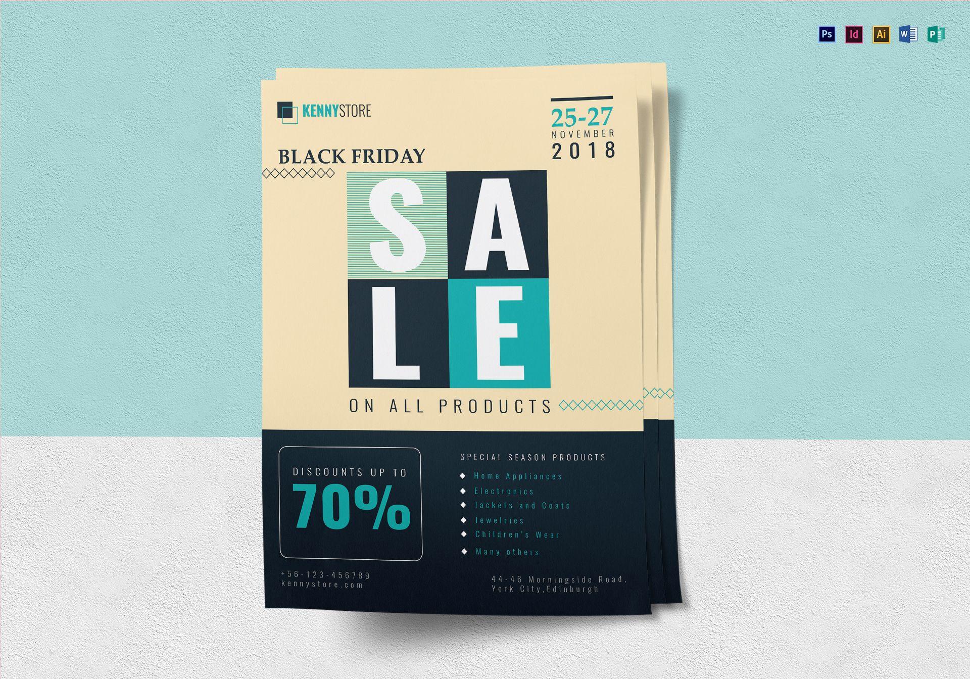 black friday big sale flyer design template in psd word publisher