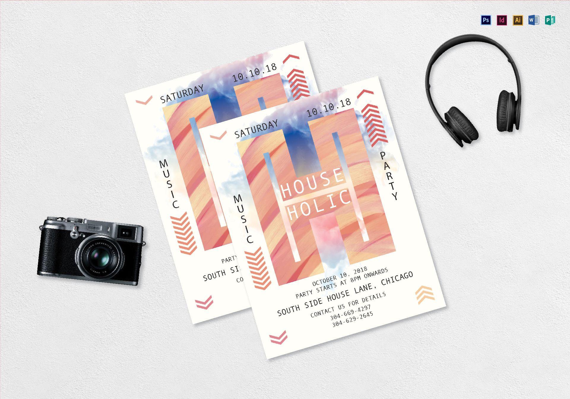 House Music Flyer