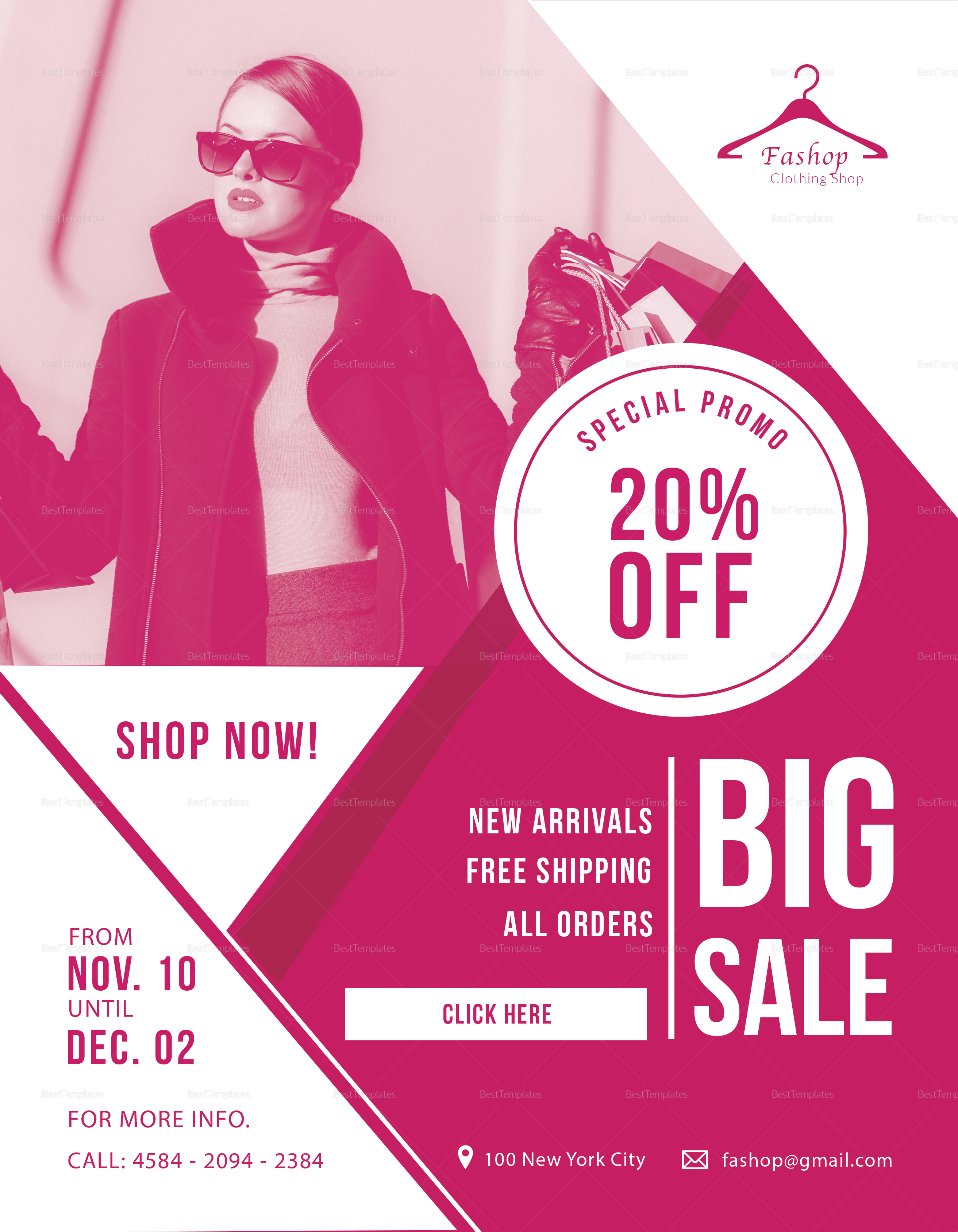 Shopping Discount Flyer Template