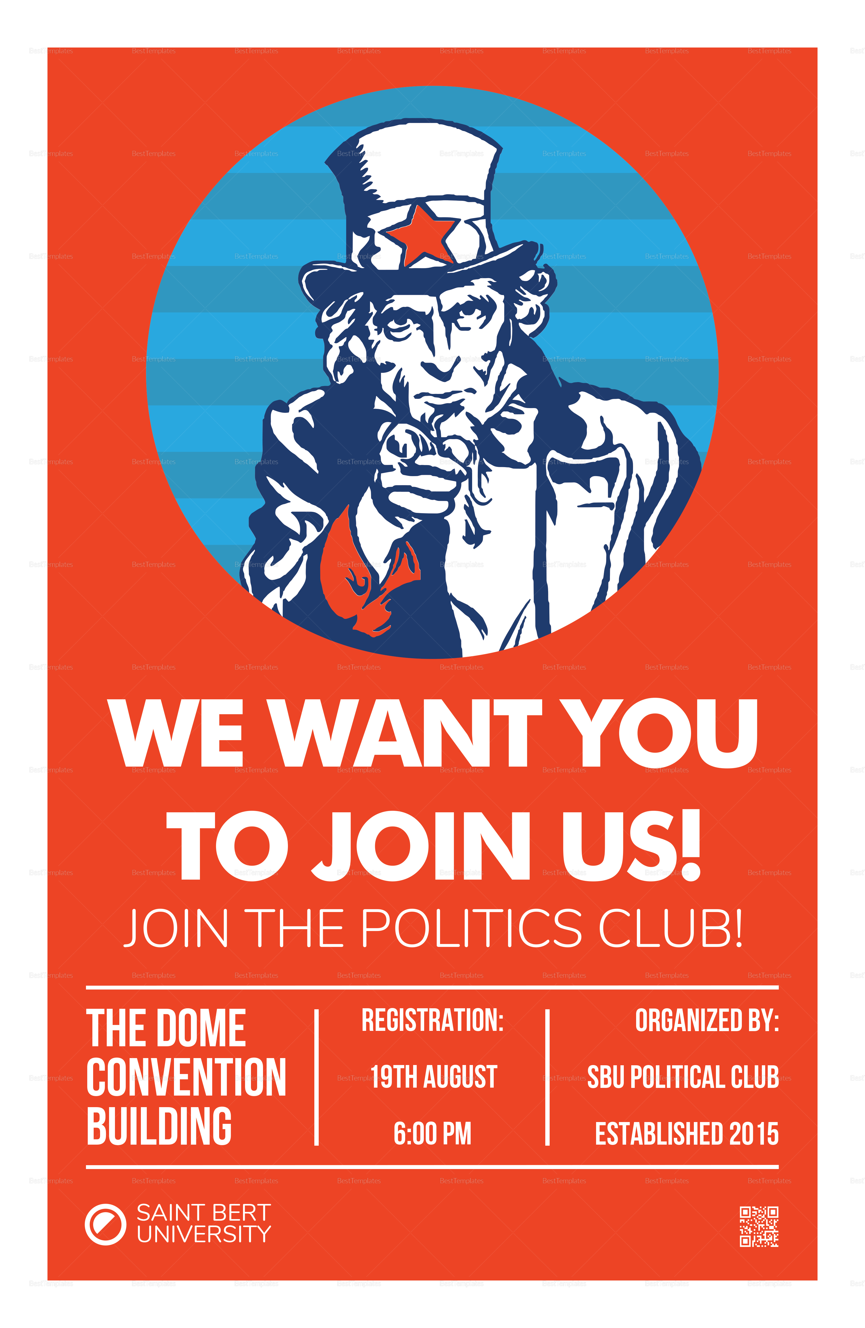 We Want You Poster Template