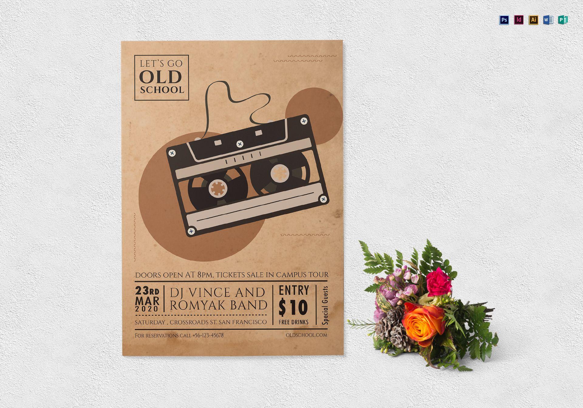 Old School Music Flyer