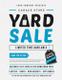 Unique Yard Sale Flyer Design Template