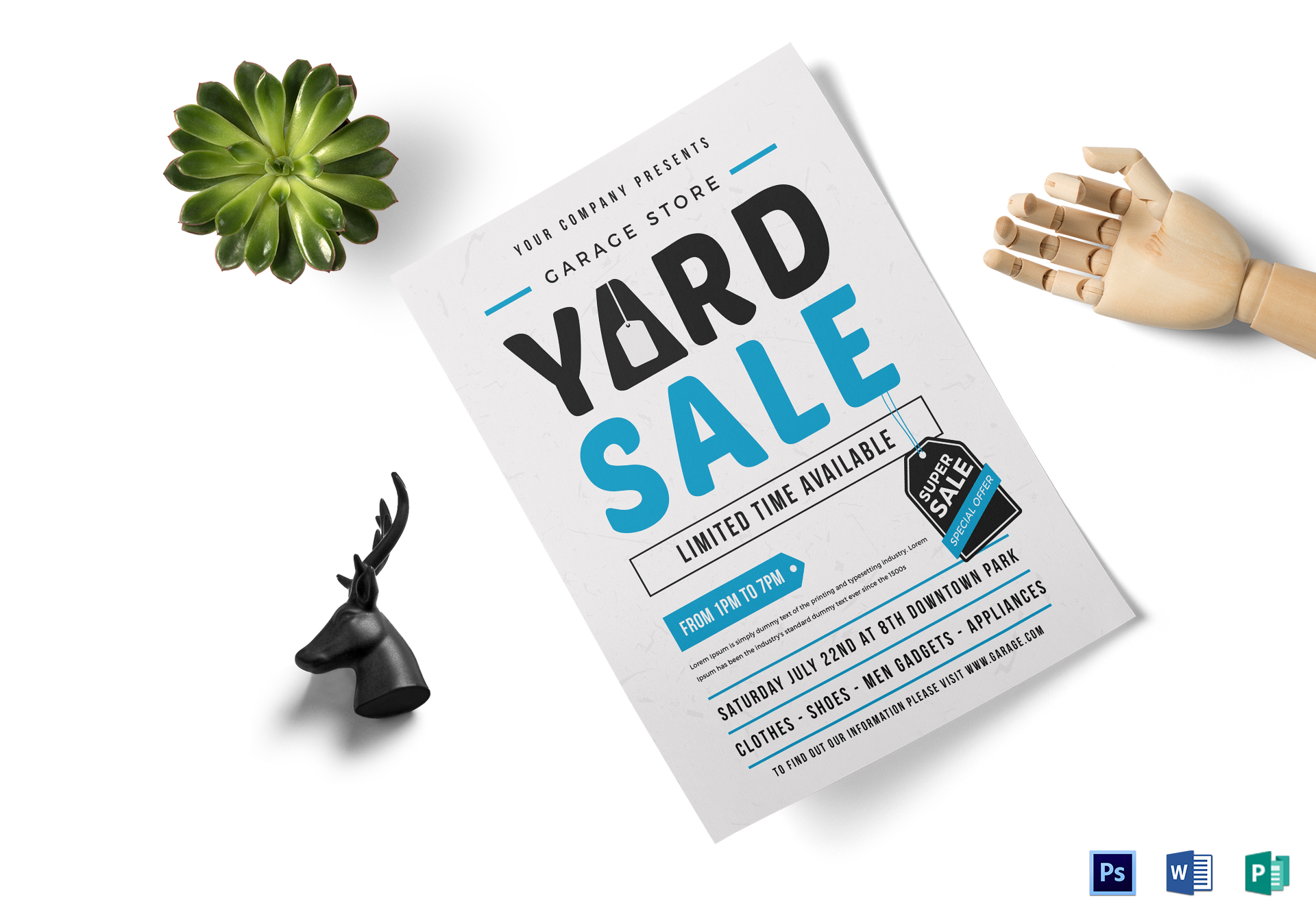 Unique Yard Sale Flyer Design Template In Word Psd Illustrator