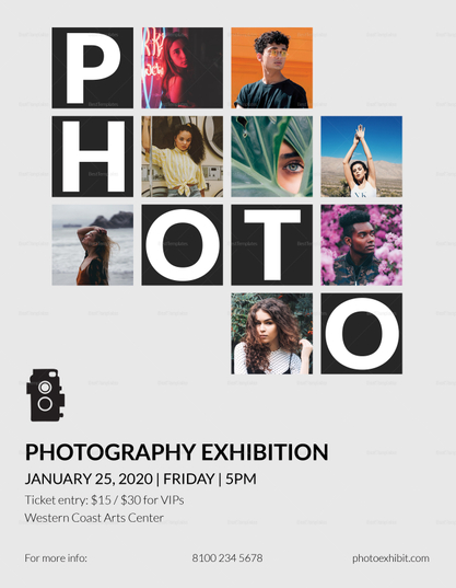 photography exhibition flyer template 417x537