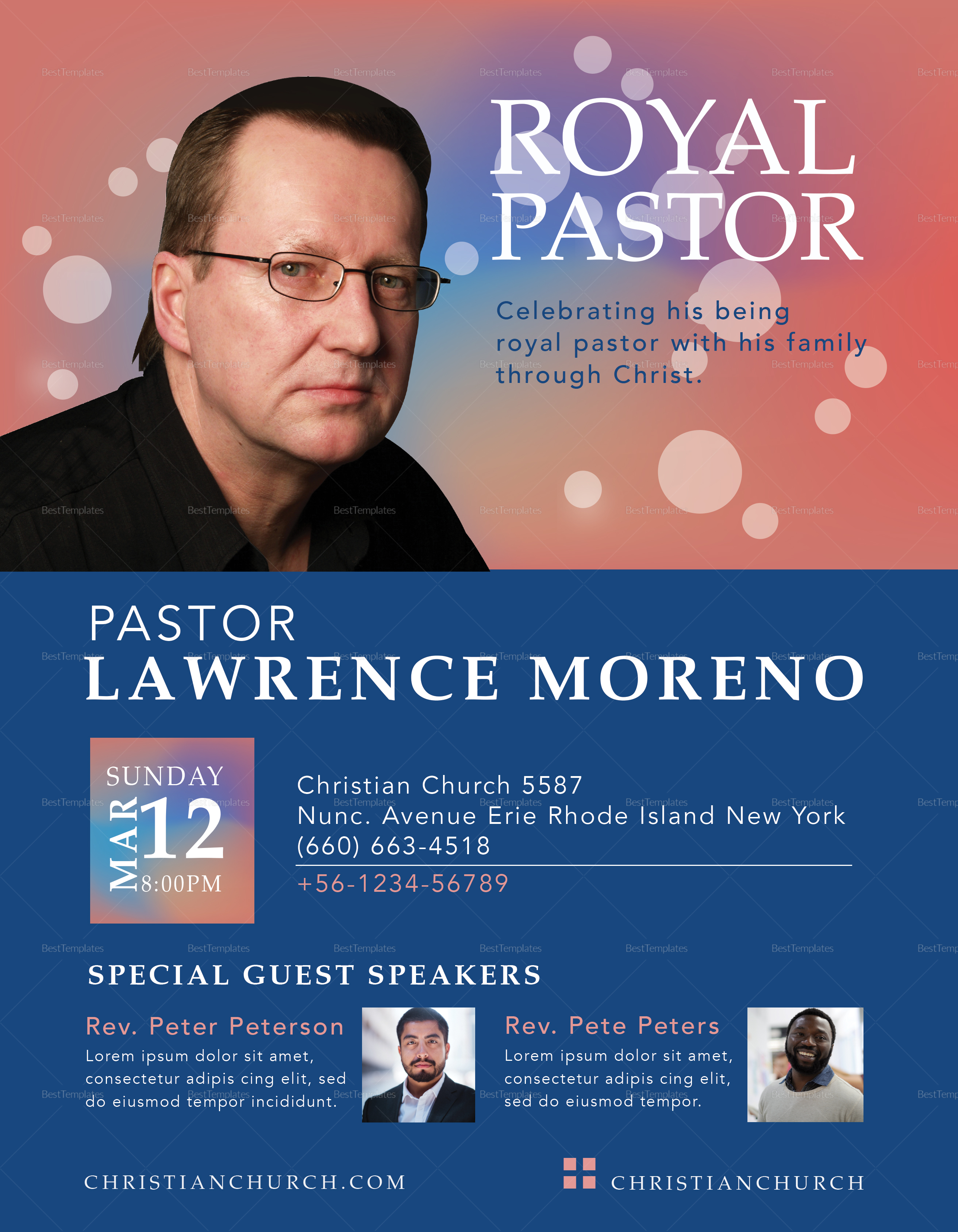 Royal Pastor Flyer Template