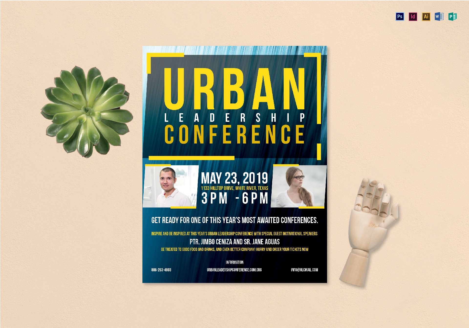urban conference flyer design template in psd word publisher
