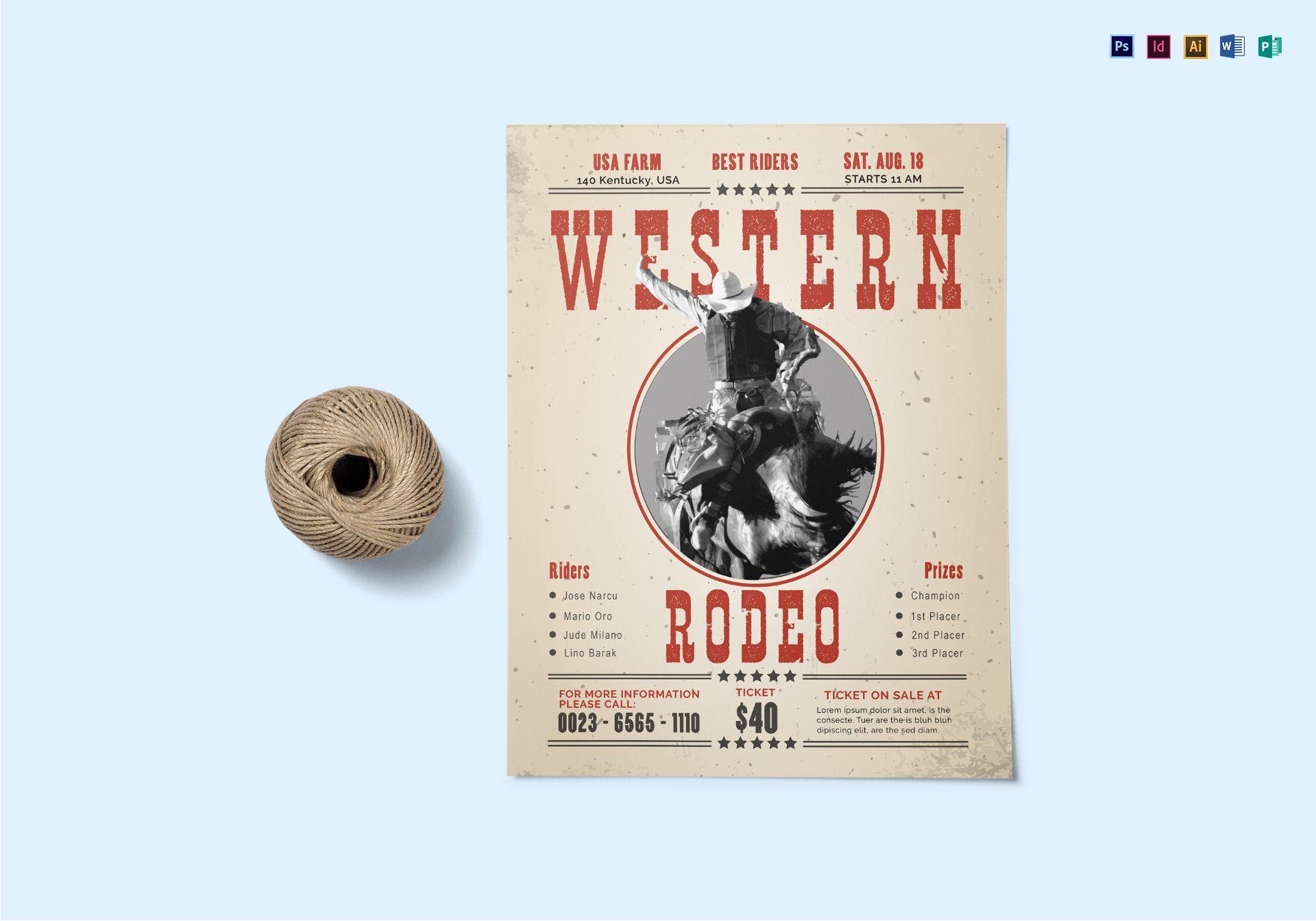 Word Flyer Template Western Denmarpulsar