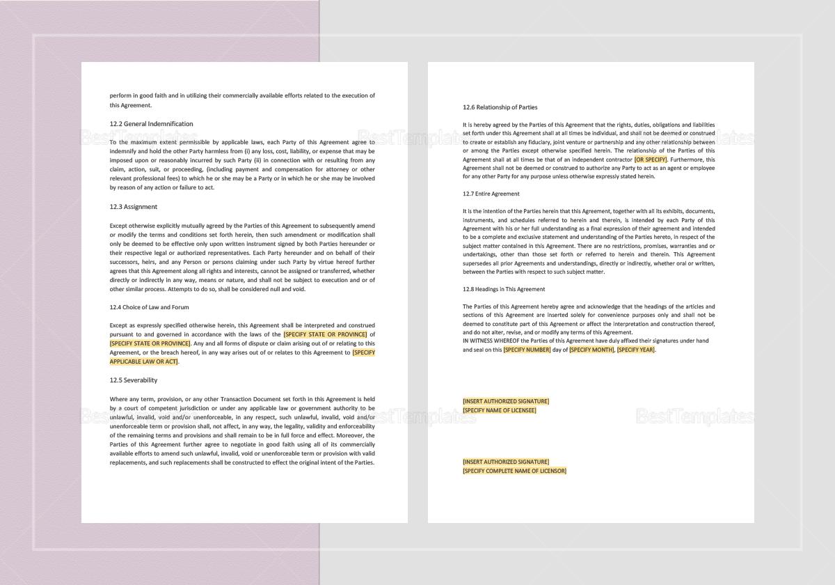 Editable Demonstration Software License Agreement