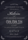 Chalkboard Birthday Party Invitation Design Template