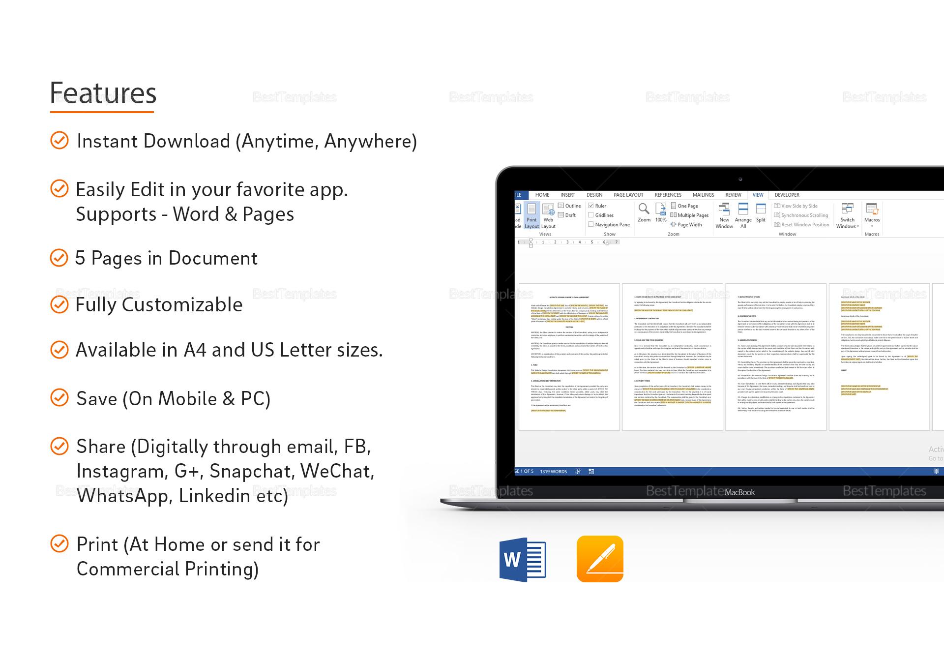 Sample Website Design Consultation Agreement