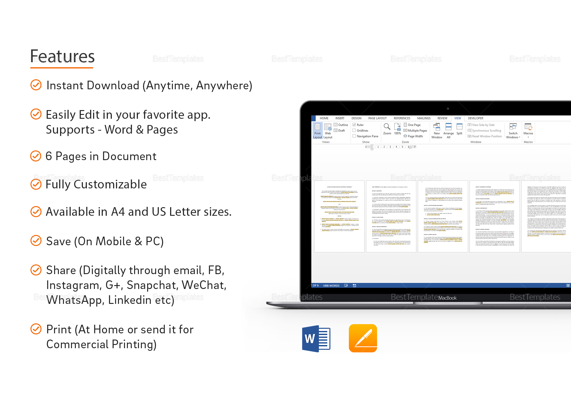 Sample Custom Software Business Partnership Agreement
