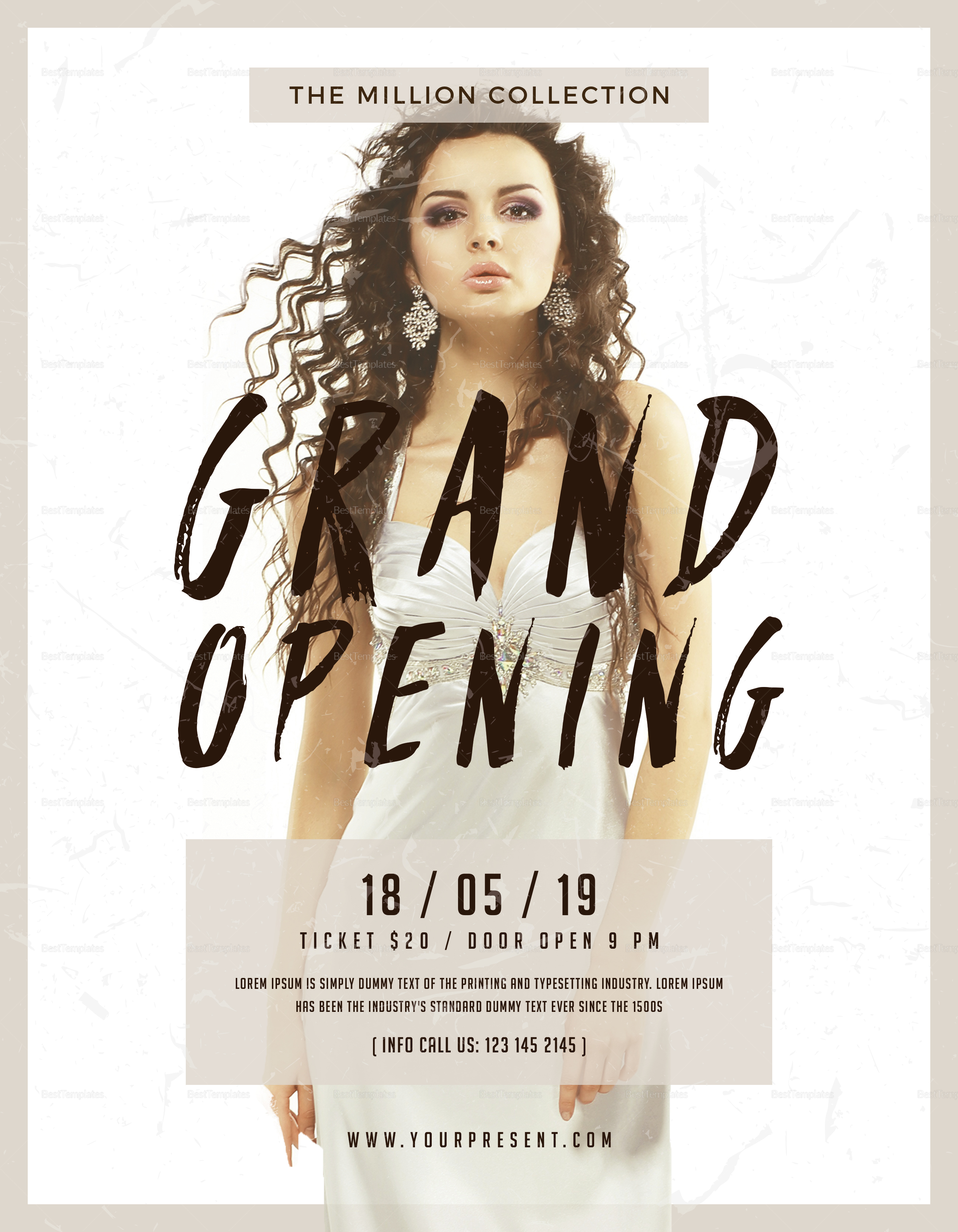 grand opening flyer design template in psd word publisher illustrator
