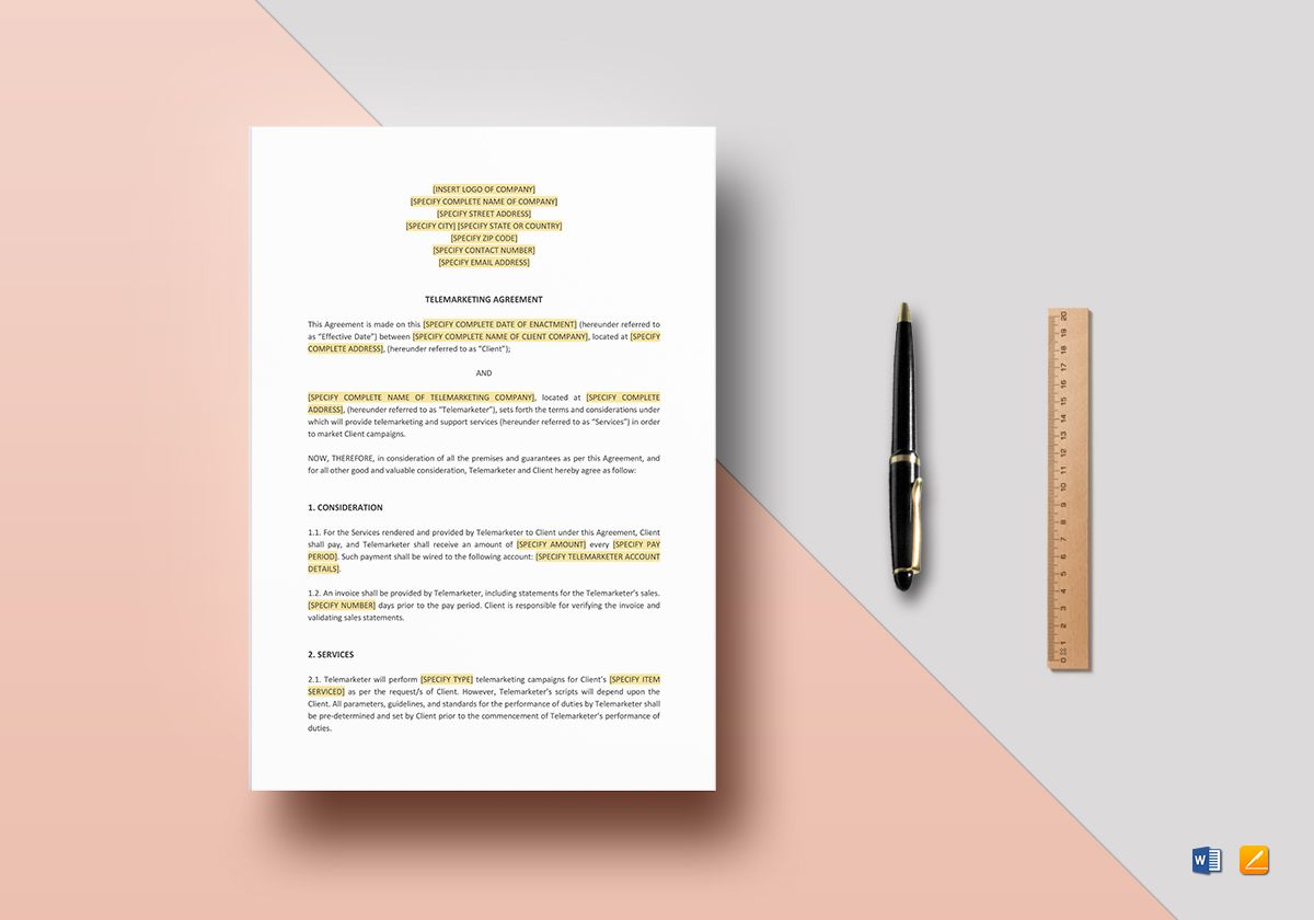 Telemarketing Agreement