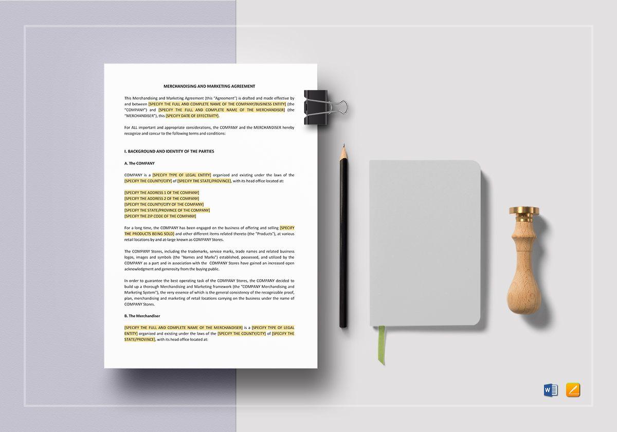 Merchandising and Marketing Agreement
