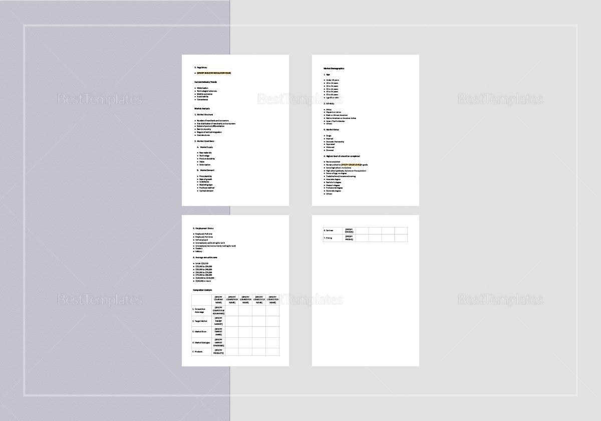 Industry Analysis Checklist Template