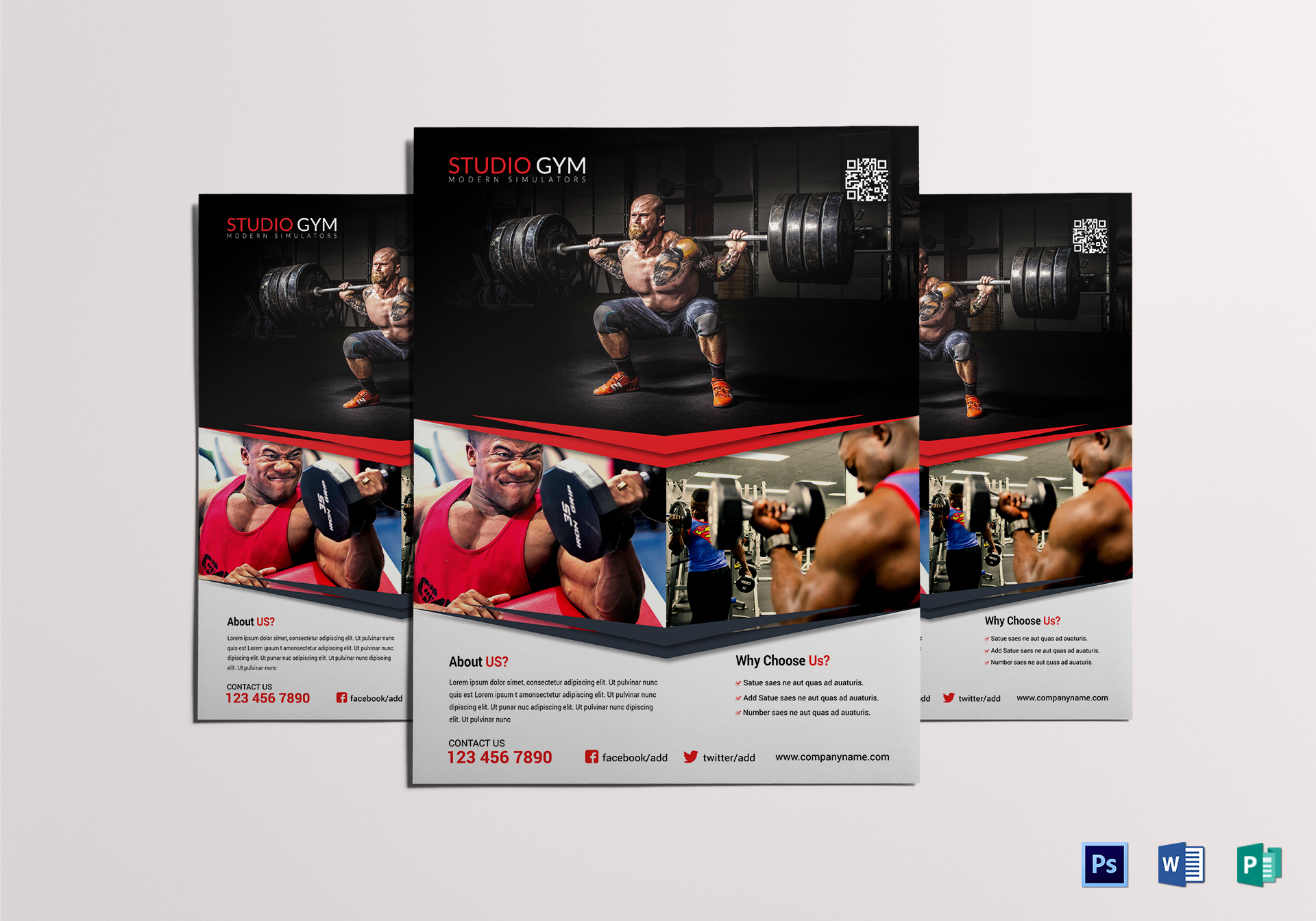 Absolute Gym Fitness Flyer Template
