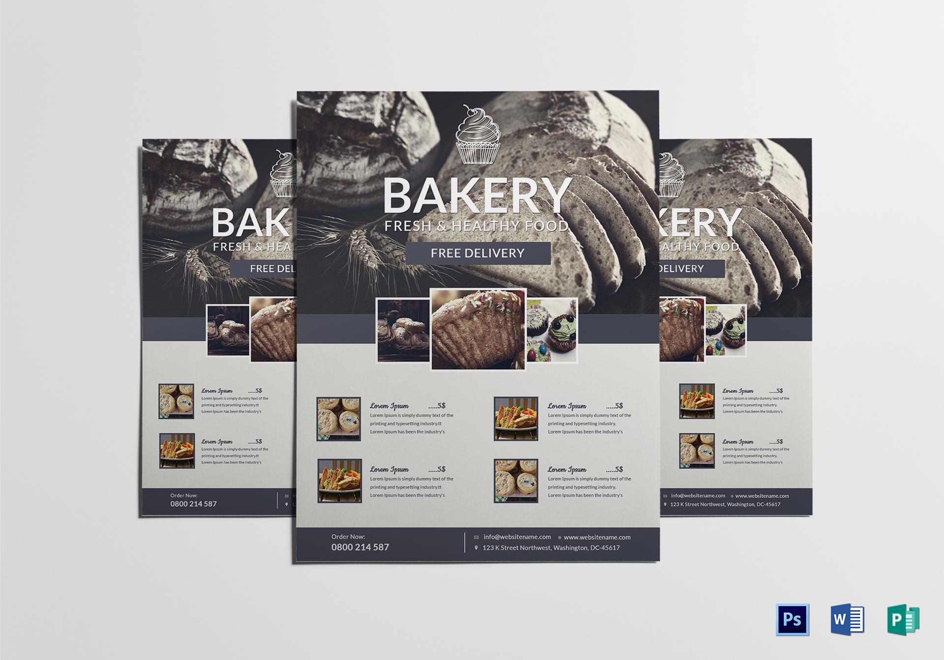 Beautiful Bake Sale Flyer