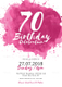 Watercolor Birthday Invitation Design Template