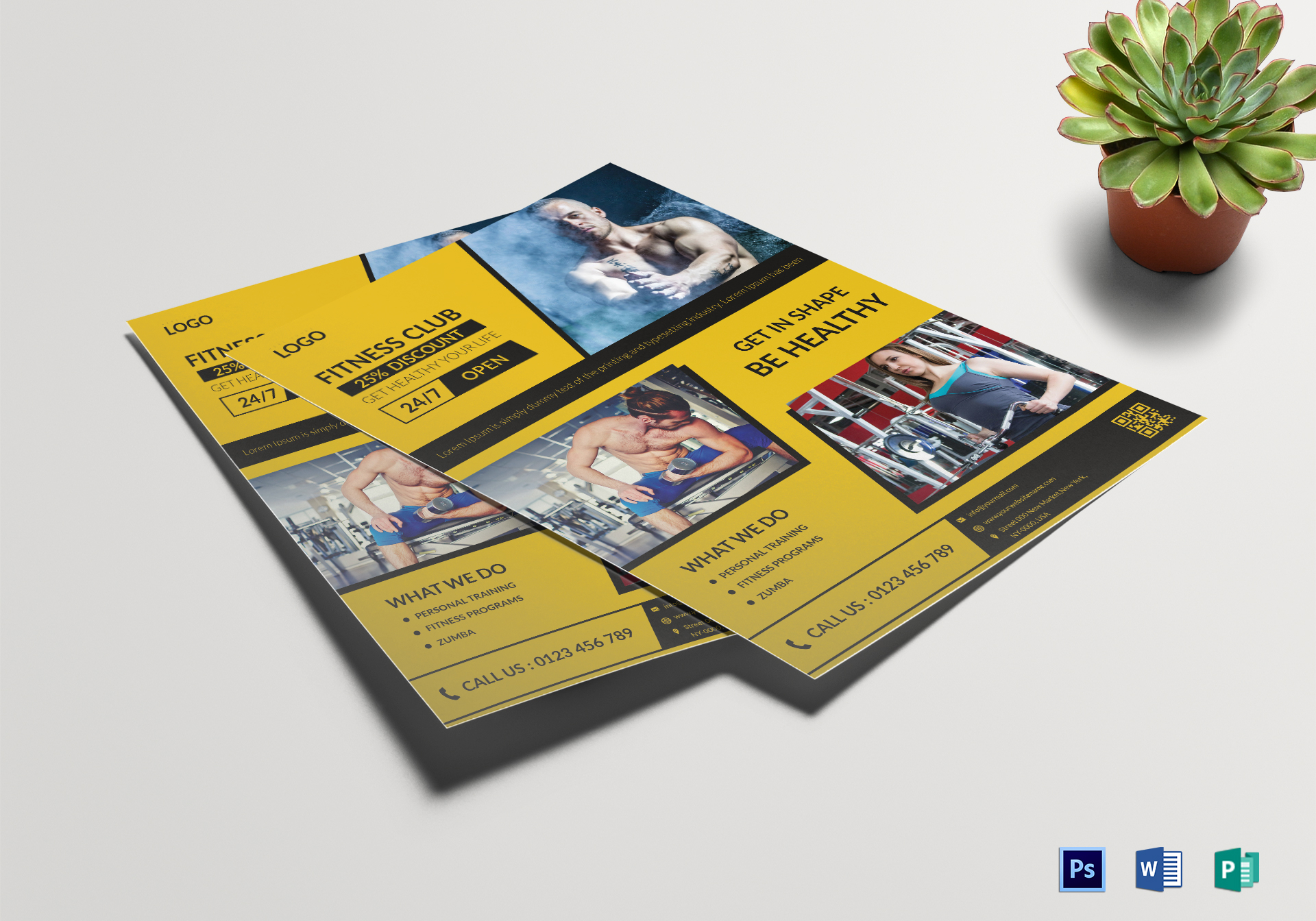 Fitness Salon Flyer Template