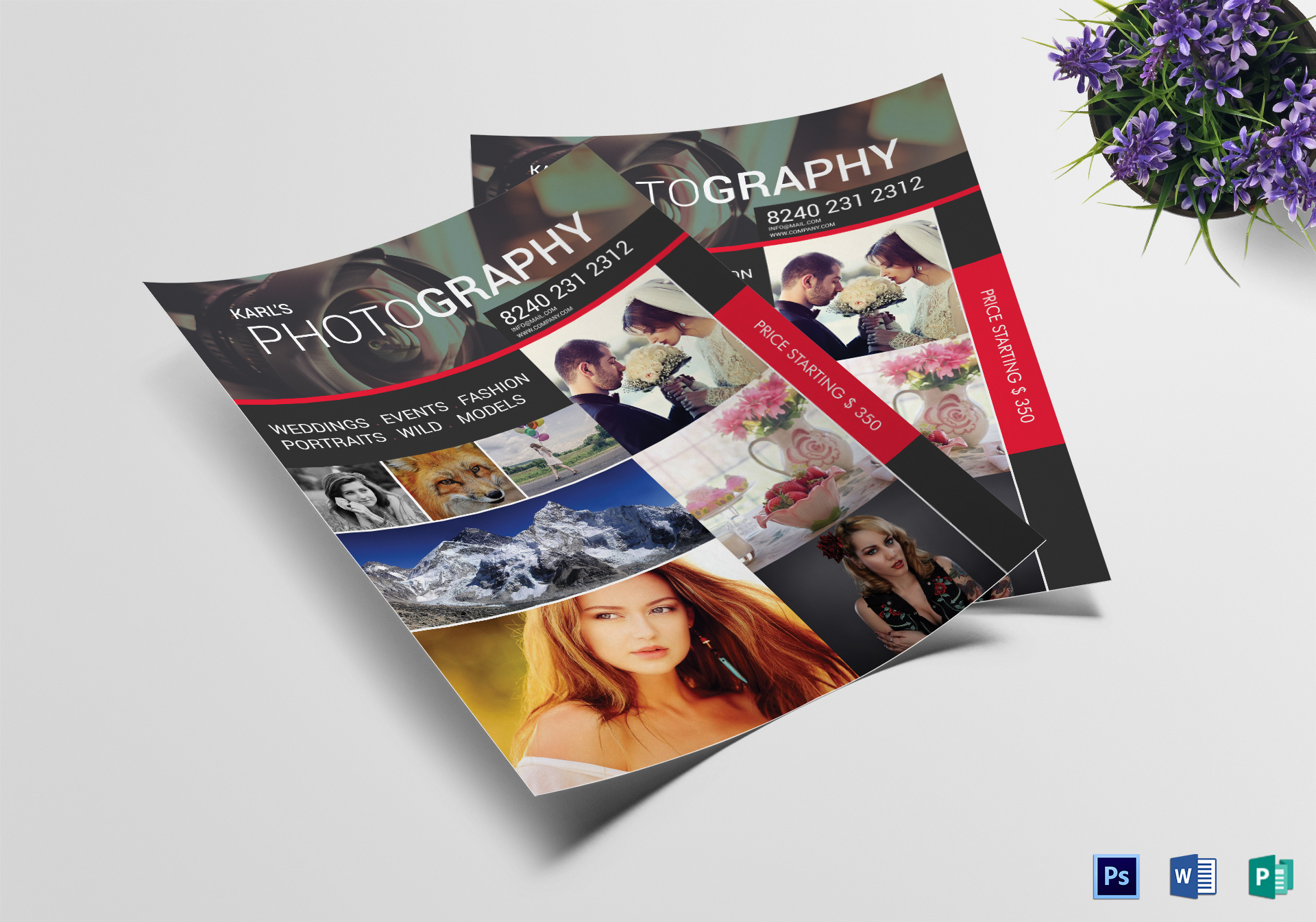Professional Photography Flyer Design Template In Word Psd Publisher