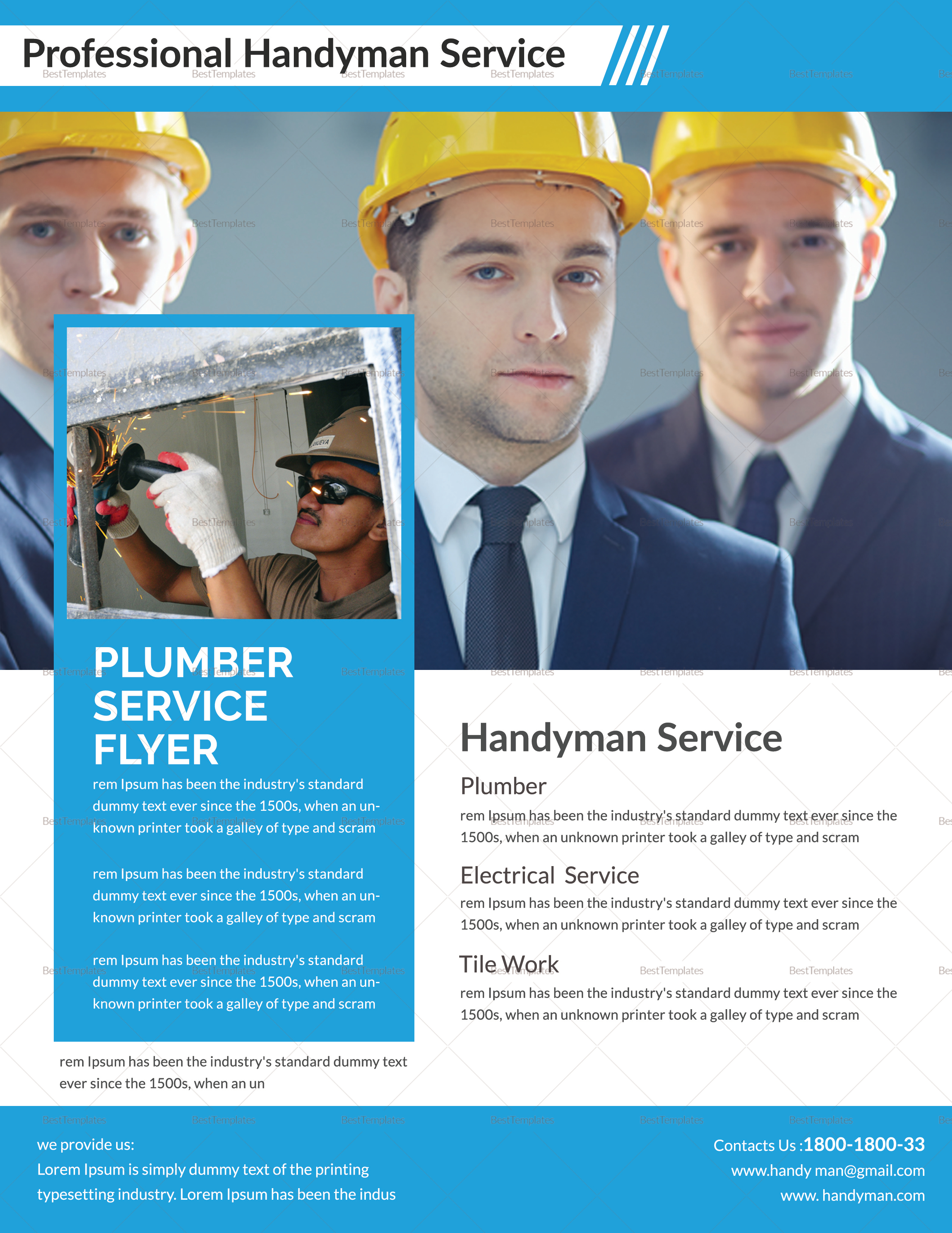 Professional Handy Man Flyer Template