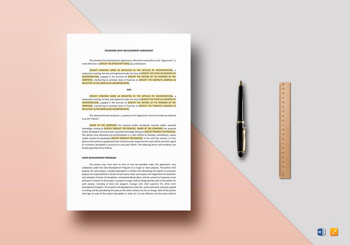 Standard Joint Development Agreement