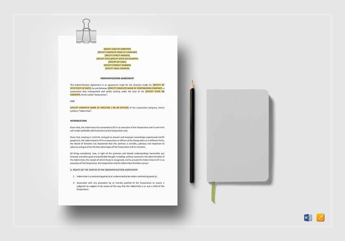 Telecommuting Agreement Template In Word Apple Pages - Telecommuting agreement template