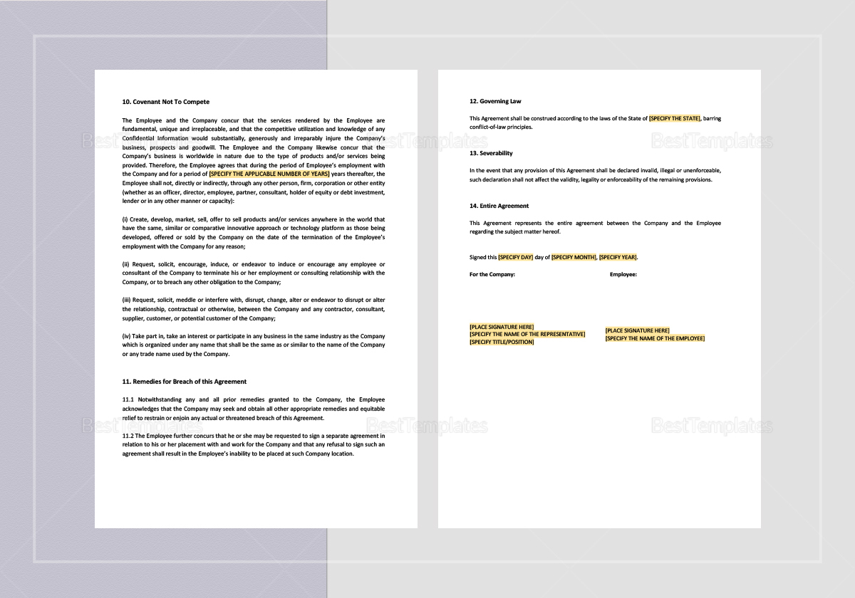 Sample Exclusivity, Confidentiality and Assignment of Work Product Template