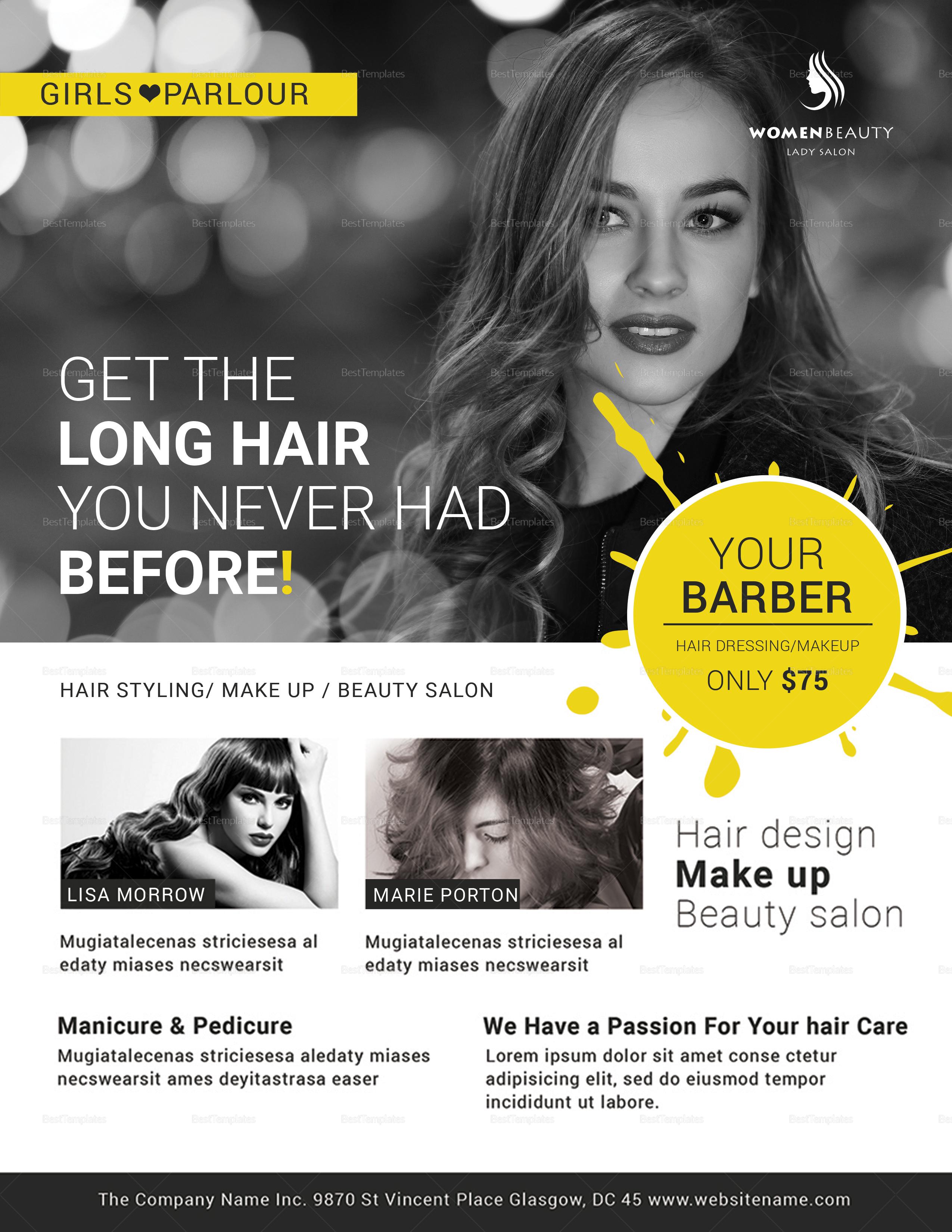 Beauty Barber Flyer Template