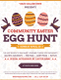 Elegant Easter Egg Hunt Flyer Design  Template