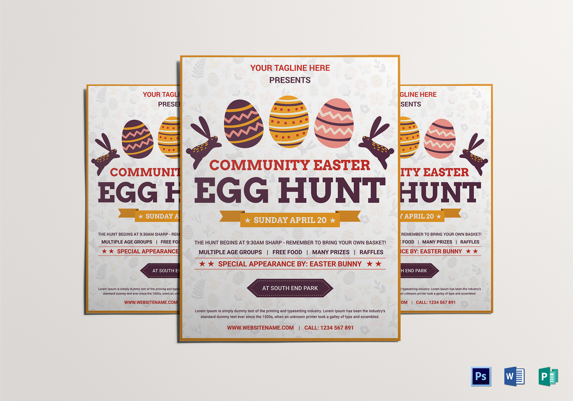 Elegant Easter Egg Hunt Flyer Template
