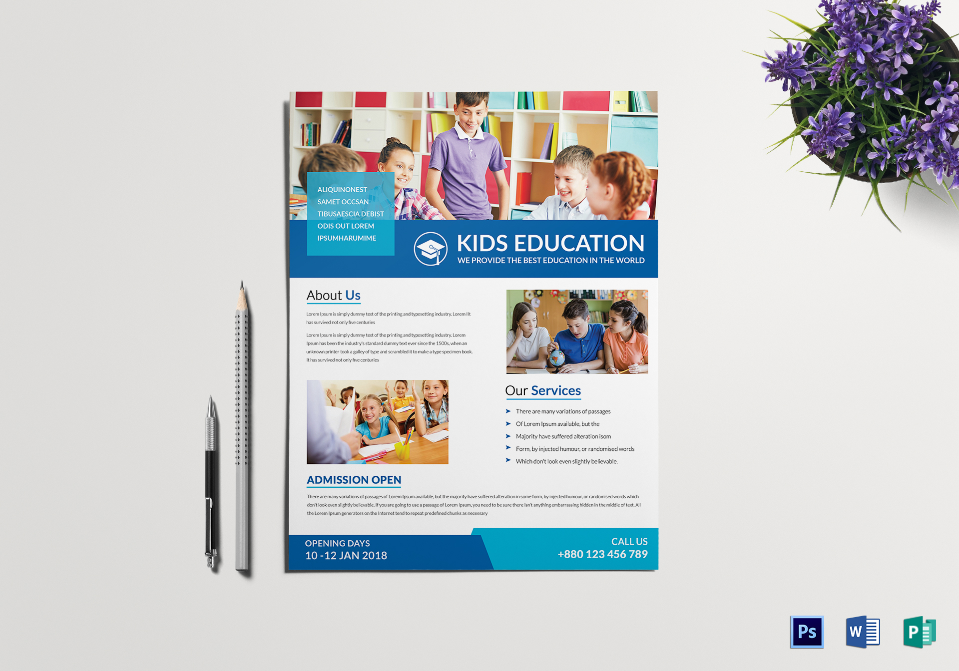 30+ School Flyers Templates - PSD, AI, Pages, Word | Free & Premium